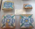 Quattro mattonelle con la rosa malatesta, dalla scarpa di castel sismondo, 1440 ca. 01.JPG