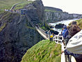 Queue for the Rope Bridge, Carrick-a-rede - geograph.org.uk - 1387452.jpg