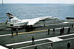 RA-5C of RVAH-12 on USS Constellation (CVA-64) 1973.jpg