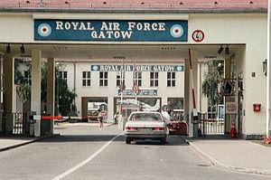 RAF Gatow - The main gate of RAF Gatow in August 1983.