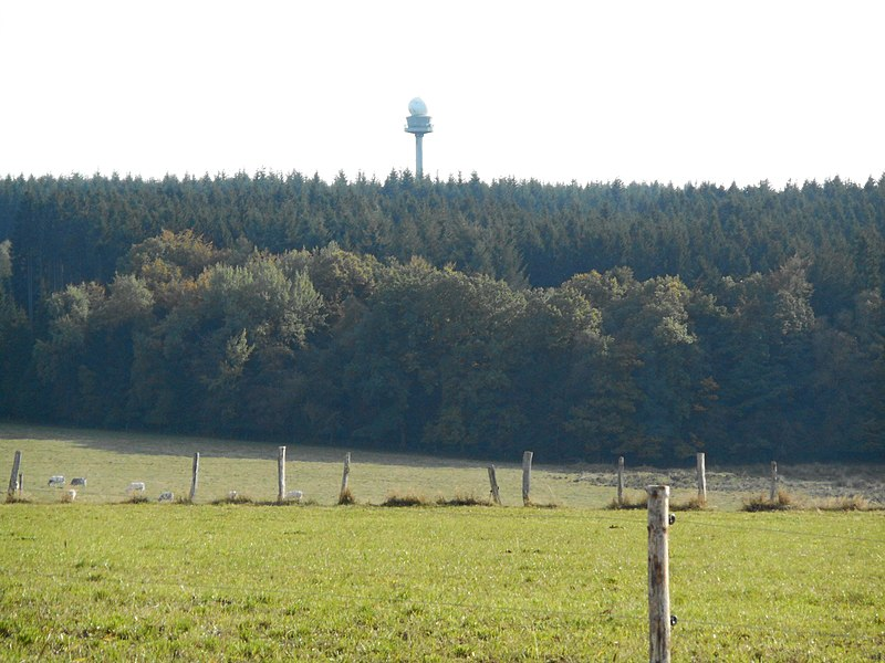Weather radar at Wideumont in Belgium