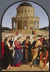Raffael: Zasnúbenie Panny Márie