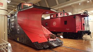 Detroit, Toledo and Ironton Railroad - Image: Railway snowplow, Henry Ford Museum