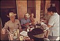 Ranch Family in the Leakey, Texas, and San Antonio Area Eating on the Porch of the Bunkhouse 05-1973 (3704382322).jpg
