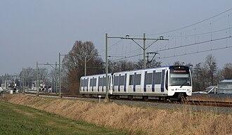 Centrum West RandstadRail station - Image: Randstadrail Nootdorp 2