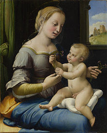 Madonna of the Pinks, c. 1506–7, National Gallery, London (Source: Wikimedia)