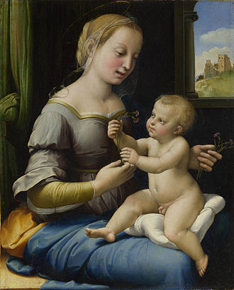 Raphael - Madonna of the Pinks, c. 1506–7, National Gallery, London