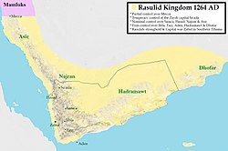 Rasulid Kingdom around 1264 AD