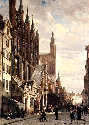 Cornelis Springer - Image: Rathaus HL 1885