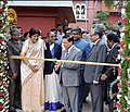 Ravi Shankar Prasad along with the Chief Justice of India Justice Dipak Misra inaugurating the renovated Lighthouse of the Madras High Court at a function organised to celebrate the 125th Year of the Historical Madras High.jpg