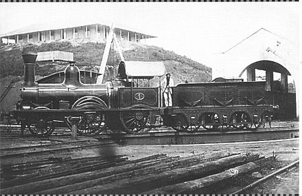 The first loco of the Recife and Sao Francisco Railway Company, the second oldest Brazilian railway. Recife and Sao Francisco Railway Company Loc. no1.jpg