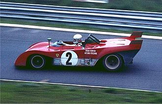 Brian Redman - Redman driving a Ferrari 312PB at the Nürburgring in 1972