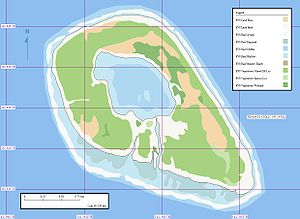 Rekareka - Map of Rekareka Atoll