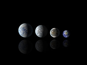 Relative sizes of all of the habitable-zone planets discovered to date alongside Earth.jpg