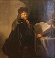 Rembrandt - A Scholar Seated at a Desk.JPG