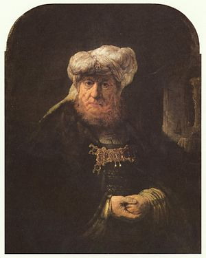 Uzziah - The King Uzziah Stricken with Leprosy, by Rembrandt, 1635.