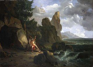 Philoctète blessé sur l'île de lemnos