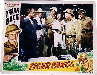 Duncan Renaldo - Movie poster for Tiger Fangs, left to right: Arno Frey, J. Farrell MacDonald, Howard Banks, June Duprez, Frank Buck, Duncan Renaldo