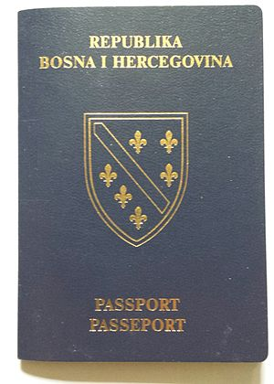 Republic of Bosnia and Herzegovina - Image: Republic of Bosnia and Herzegovina passport (front cover)