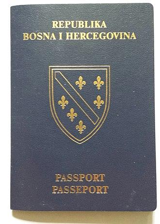 Republic of Bosnia and Herzegovina - Image: Republic of Bosnia and Herzegovina passport (front cover)