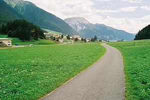 Reschen Pass - Pass summit at Reschen, looking southwards