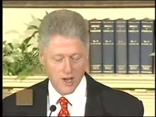 Ficheiro:Response to the Lewinsky Allegations (January 26, 1998) Bill Clinton.ogv