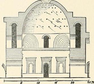 Palace of Ardashir - Interior elevation, Palace of Ardashir, 1905