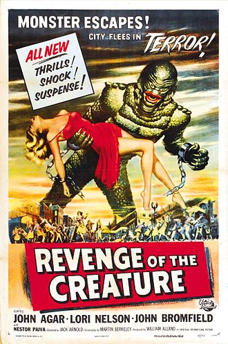 Revenge of the Creature - Theatrical release poster by Reynold Brown
