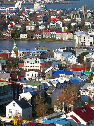 Roman Catholic Diocese of Reykjavík - The Cathedral of Christ the King in the upper right.