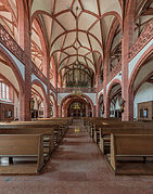 Rheingauer Dom, Geisenheim, Nave as seen from choir 20140904 1.jpg