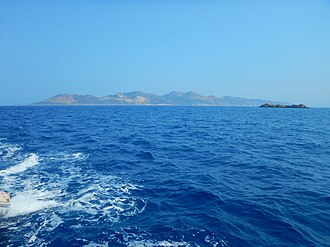 Ro, Greece - The island of Rho seen from WNW