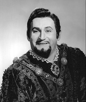Richard Tucker - As the Duke in Rigoletto, 1971.