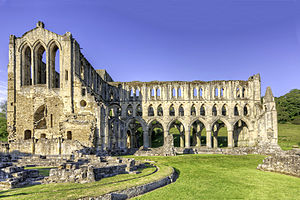 Rievaulx Abbey - Image: Rievaulx Abbey wyrdlight 24588