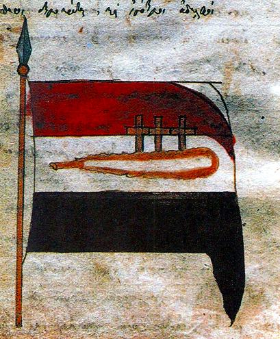 Rigas Feraios flag manuscript