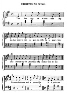 musical setting from edward rimbaults nursery rhymes with the tunes to which they are still sung in the nurseries of england c 1846 - On The 12th Day Of Christmas Song