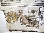 Rimini, mosaico tardoimperiale con vittorie alate e scudo con medusa.JPG