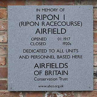 RAF Ripon Royal Air Force base in Yorkshire, England