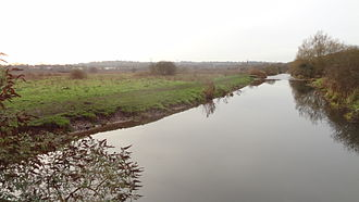 Croxley Common Moor River Gade River Gade with Croxley Common Moor on the left.JPG