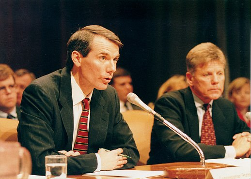 Rob Portman testifying before the Senate Budget Committee