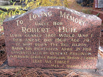Brooklyn, New South Wales - Robert Buie headstone