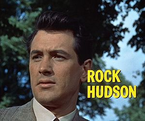 Cropped screenshot of Rock Hudson from the tra...