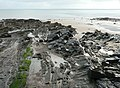 Rocky shore near Wiseman's Bridge - geograph.org.uk - 1692048.jpg