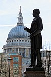 Roland Hill statue, King Edward Street, City of London, England.jpg
