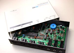 MPU-401 - Roland MPU-401 (top-cover removed).