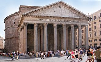 Pantheon, Rome - Image: Rome Pantheon front