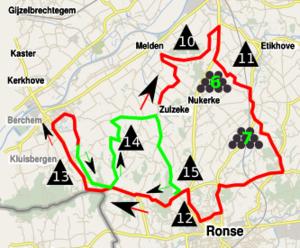 2013 Tour of Flanders - Image: Ronde van Vlaanderen 2013 lap 2