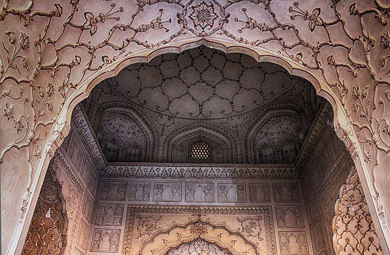 Roof of badshahi mosque.jpg