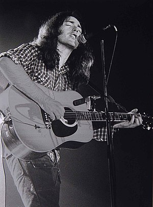 Rory Gallagher - Gallagher on acoustic guitar, March 1978, Breda, Netherlands