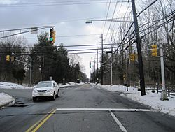 Rosedale as seen from southbound Carter Road (CR 569)