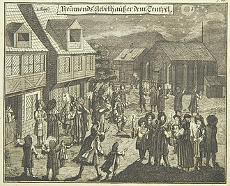 Rosh Chodesh - Rosh Chodesh observance depicted in Juedisches Ceremoniel, a German book published in 1724